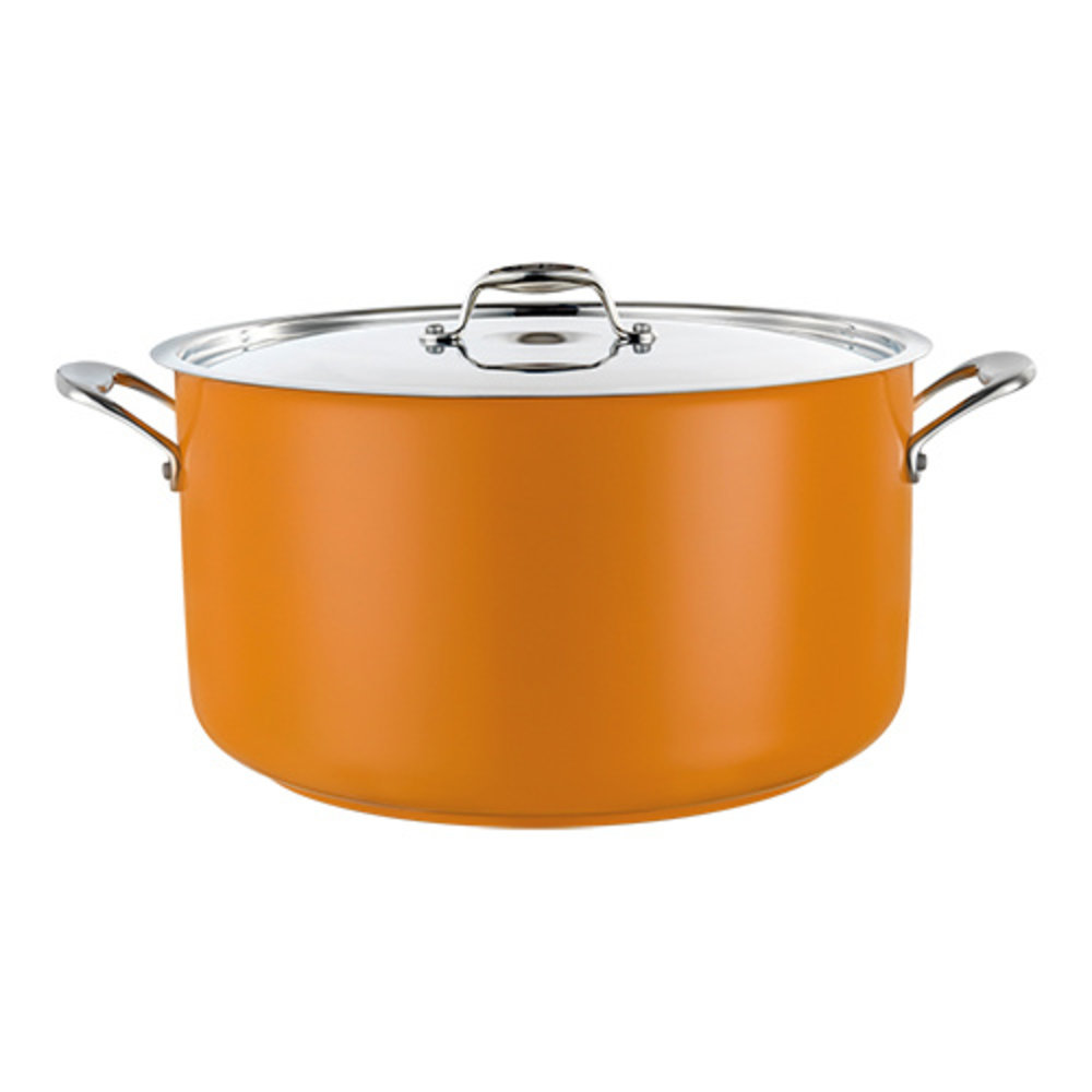 Kookpan geel middel 9,5 liter Ø28x16(h)cm