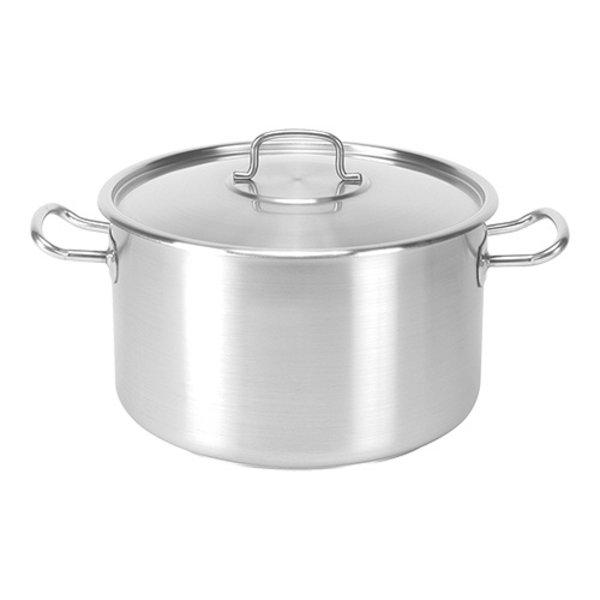 Kookpan RVS aluminium middel met sandwich bodem  10,2 liter  Ø28x17,5(h)cm