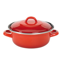 EMGA Braadpan plaatstaal rood |  3,5 liter | Ø26cm