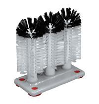 EMGA Glazen-spoelborstel nylon standaard 3 delig 24(h)cm