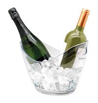 EMGA Wijnkoeler kunststof transparant ovaal cap. 2 flessen | 270x200x210(h)mm
