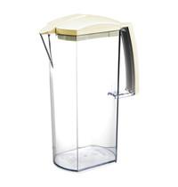 Araven Schenkkan transparant acryl deksel sluit de tuit af ' opent zich automatisch wanneer er geschonken wordt 2 liter 26(h)cm