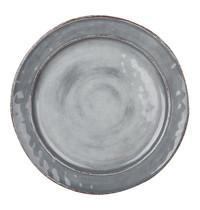 EMGA Bord grijs melamine  Ø 22cm