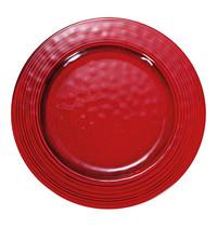 EMGA Bord rood melamine Ø 22cm