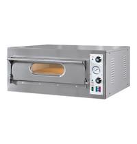 RESTO ITALIA Pizza oven | 1x4  Ø33cm |4,7kW | Met chamotte bodem | 930x980x410(h)mm