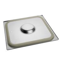 EMGA Gastronorm deksel met siliconen afdichtrand | 2/3 GN | 354x325mm