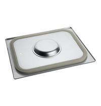 EMGA Gastronorm deksel met siliconen afdichtrand | 1/2 GN | 325x265mm