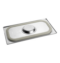 EMGA gastronorm deksel 1/3GN m/silicoon 325x176mm