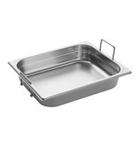 EMGA Gastronorm bak RVS met grepen | 4 liter  | 1/2 GN | 325x265x65(h)mm