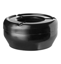 EMGA Terras asbak zwart melamine stapelbaar Ø12cm