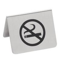 EMGA Tafelbordje no smoking RVS 2 zijdig 5,5x 4,5(h)cm