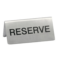 EMGA Tafelbordje reserve RVS 2 zijdig 10x4,5(h)cm