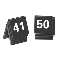 EMGA Tafelnummers kunststof zwart 2 zijdig 41t/m50 - 4x4(h)cm