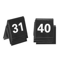 EMGA Tafelnummers zwart kunststof 2 zijdig 31t/m40 - 4x4(h)cm