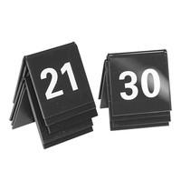 EMGA Tafelnummers zwart kunststof 2 zijdig 21t/m30 - 4x4(h)cm