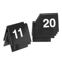 EMGA Tafelnummers kunststof zwart 2 zijdig 11t/m20 - 4x4(h)cm