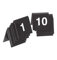 EMGA Tafelnummers zwart kunststof 2 zijdig 0t/m10 4x4(h)cm