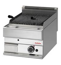 Modular Lavasteen grill |  Voorzien van piëzo elektrische ontsteking | 5kW  | 400x650x280(h)mm