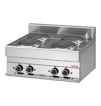 Modular Kooktoestel (cap.4st.) | 9,6kW | Met 6 standen schakelaar | 700x650x280(h)mm