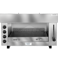 Naomi Pita-Oven met waterverdampingssysteem | 10,80kW/h | 4  infrarood gasbranders | 960x430x600(h)mm