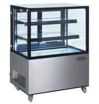 Combisteel Koelvitrine   270 liter   230V   Met glasdeur + LED verlichting    Geforceerd   915x675x1210(h)mm