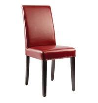 Bolero Kunstlederen stoel rood   2 stuks   Zithoogte 51cm   405x500x940(h)mm