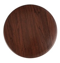Bolero Tafelblad rond donkerbruin voorgeboord | 80cm