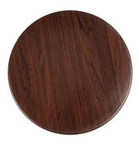 Tafelblad rond donkerbruin voorgeboord | 80cm