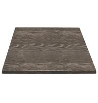 Tafelblad vierkant wenge houtlook  | 700x700x30(h)mm