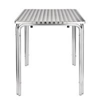 Bistrotafel vierkant RVS 60cm   600x600x720(h)mm