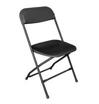 Bolero Opklapbare stoel zwart | 10 stuks | Zithoogte 44cm | 440x480x800(h)mm