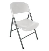 Bolero Opklapbare stoel wit | 2 stuks | Zithoogte 44,5cm | 490x500x810(h)mm