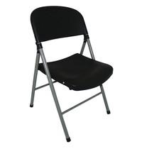Bolero Opklapbare stoel zwart | 2 stuks | Zithoogte 44,5cm | 490x500x810(h)mm