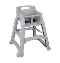 Bolero Stapelbare PP grijze kinderstoel | Zithoogte 49cm | 650x560x730(h)mm