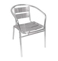 Bolero Aluminium stoel | 4 stuks | Zithoogte 45cm | 530x580x735(h)mm