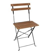 Bolero Opklapbare imitatiehouten stoel | 2 stuks  | Zithoogte 48cm  | 420x440x810(h)mm