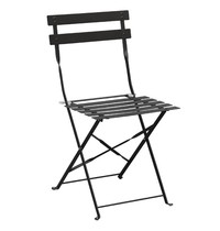 Bolero Opklapbare stoel zwart | 2 stuks | Zithoogte 44cm | 387x471x800(h)mm