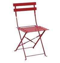Bolero Opklapbare stoel rood | 2 stuks | Zithoogte 44cm | 387x471x800(h)mm