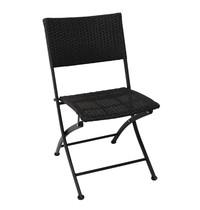 Bolero Opklapbare rotan stoel | 2 stuks  | Zithoogte 46cm | 580x470x850(h)mm