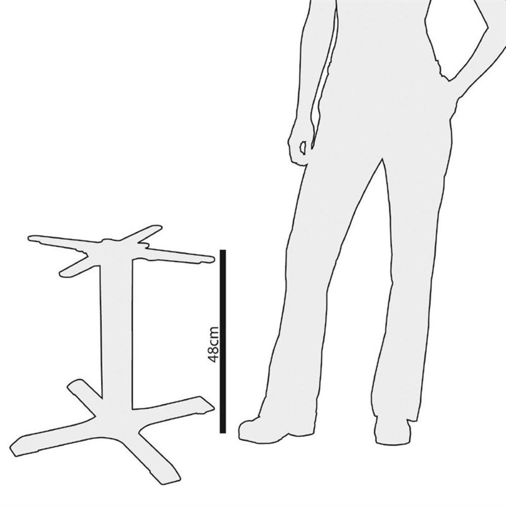 4-benige gietijzeren tafelpoot 48cm | 48(h) x 39,5(b)cm