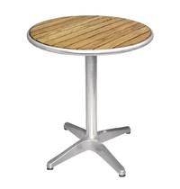 Ronde tafel met essenhouten blad 60cm   72(h) x 60(Ø)cm