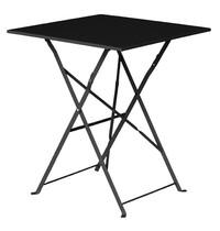 Vierkante opklapbare stalen tafel zwart 60cm | 600x600x710(h)mm