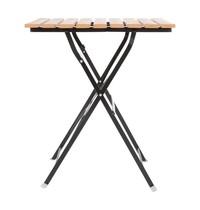 Vierkante imitatiehouten tafel 60cm | 600x600x695(h)mm