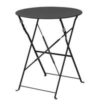 Ronde stalen opklapbare tafel zwart 59,5cm | 71(h) x 59,5(Ø)cm