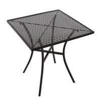 Bolero Vierkante stalen bistro tafel zwart 70cm | 700x700x710(h)mm