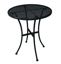 Bolero Ronde stalen bistrotafel zwart 60 cm | 600x600x710(h)mm