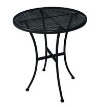 Ronde stalen bistrotafel zwart 60 cm   600x600x710(h)mm
