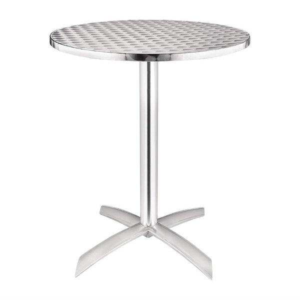 Ronde tafel met kantelbaar RVS blad 60cm   72(h) x 60(Ø)cm