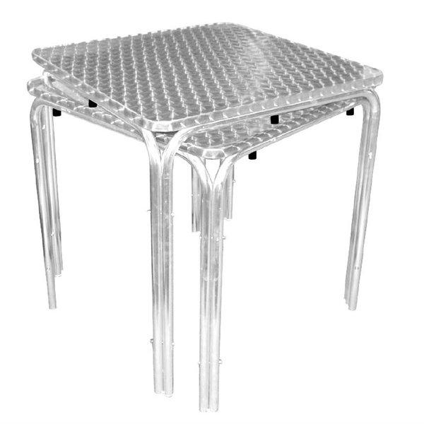 Vierkante RVS tafel 70cm | 700x700x720(h)mm