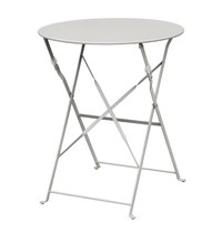 Ronde stalen opklapbare tafel grijs 59,5cm | 71(h) x 59,5(Ø)cm